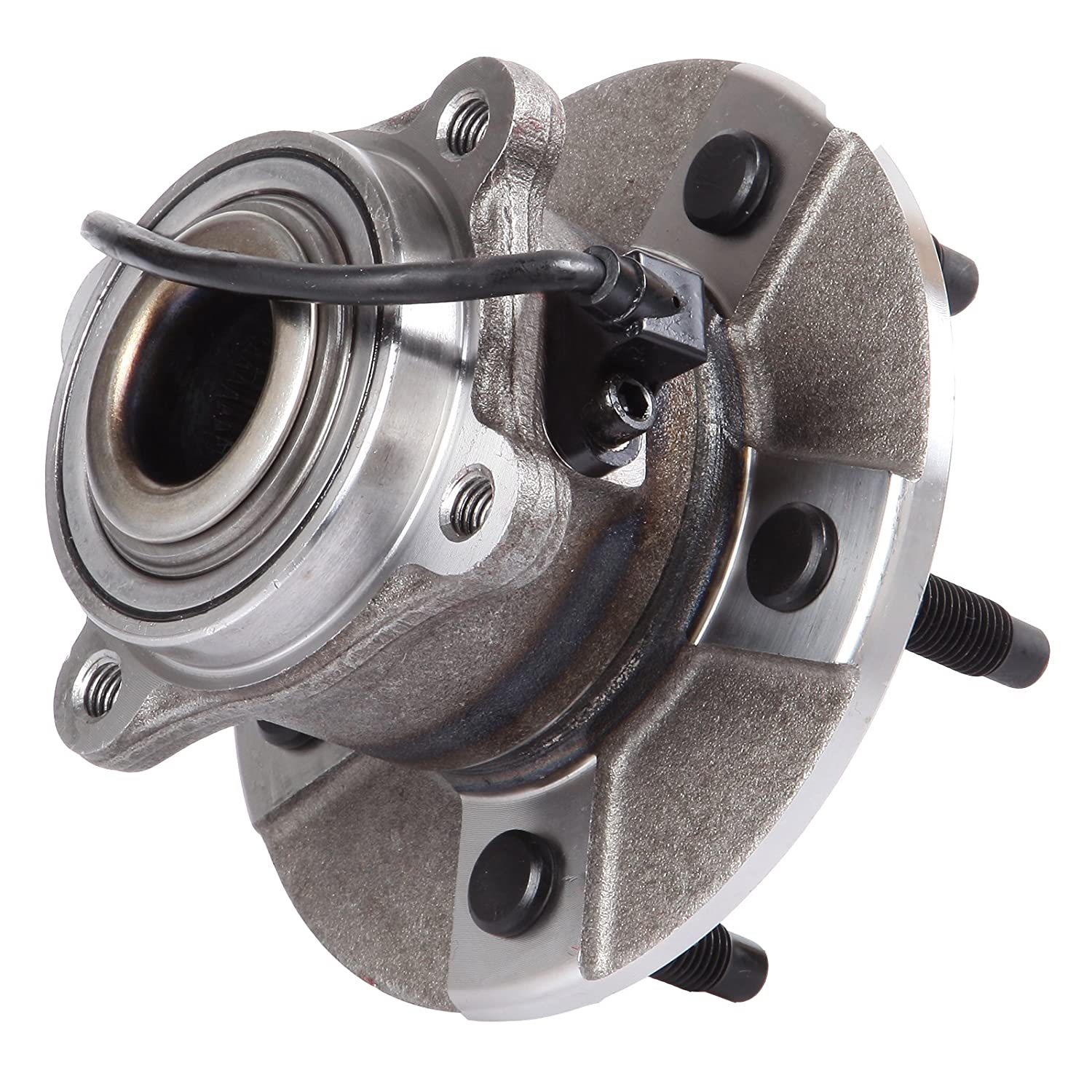 2 512229 New Rear Wheel Hub and Bearing fit 05-06 Chevy Saturn 5 Lugs W//ABS SCITOO Both