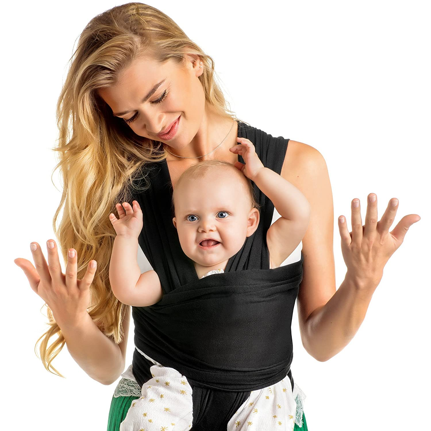 Baby Wrap Carrier Hands Free Breathable Soft And Stretchy Baby Sling Carrier Ergonomic Safe Secure