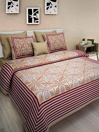 15e75d257c7 Image Unavailable. Image not available for. Colour  Vihaan Fab India Double  Bedsheet Pure Cotton Rajasthani Jaipuri ...