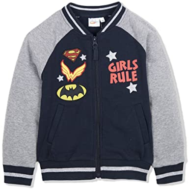 DC Superhero - Sudadera Oficial de béisbol con Parches para niñas de 2 a 8 años: Amazon.es: Ropa y accesorios
