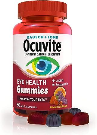 Ocuvite Eye Vitamin & Mineral Supplement, Eye Health Adult Gummies, Contains Lutein & Zeaxanthin, 60 Gummies