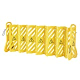 AmazonCommercial Expandable Mobile Barricade System, Yellow