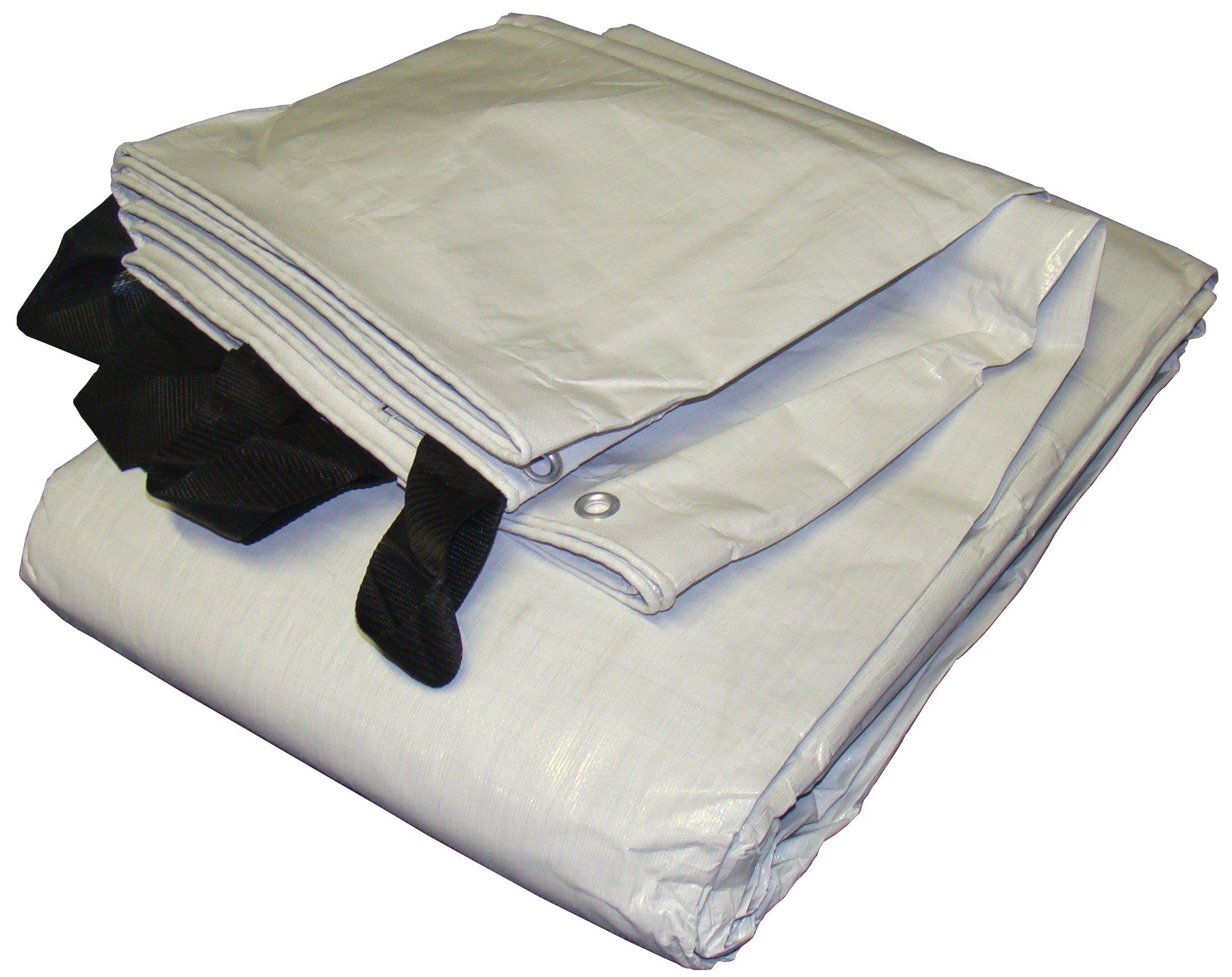 12' x 30' White & Black Reversible Extra Heavy Duty Tarp by Hay Cover
