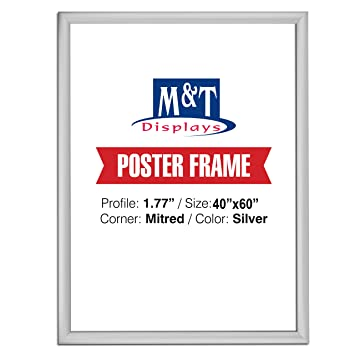 Amazoncom Snap Frame 40 X 60 Poster Size 177 Silver Color