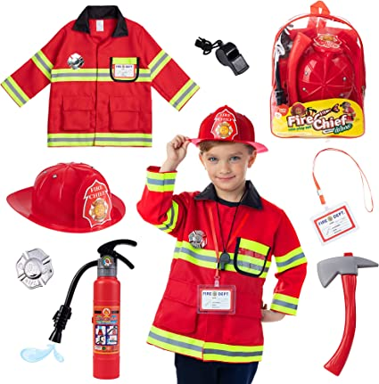 Brand New Fire Chief Toddler Costume