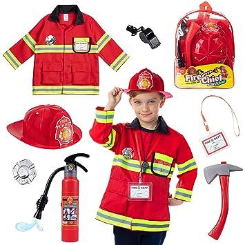 Born Toys (8 Disfraz de Bombero Lavable y Accesorios para ...