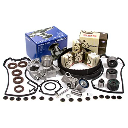 Amazon.com: 02-05 Subaru Turbo 2.0 DOHC 16V EJ205 Timing Belt Kit AISIN Water Pump Valve Cover Gasket: Automotive