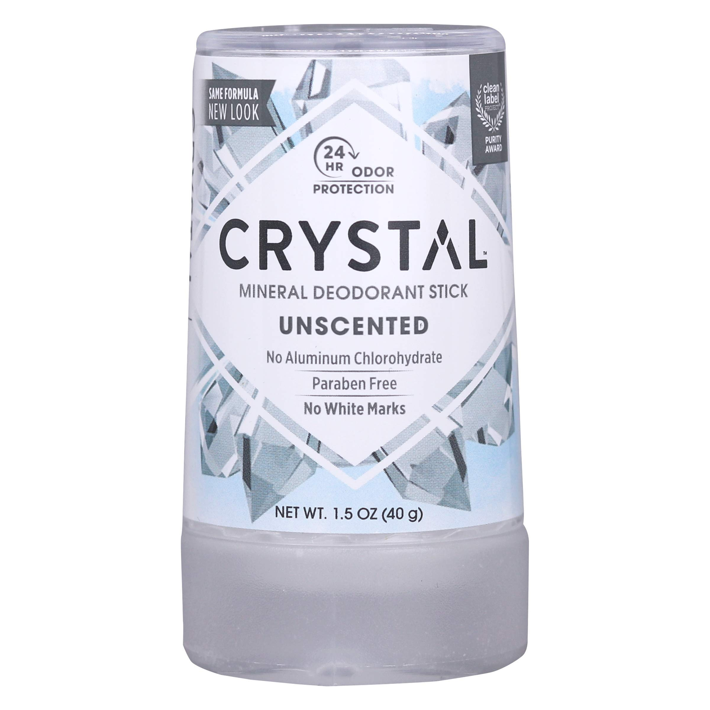 CRYSTAL Deodorant Mineral Deodorant Stick, Travel, 1.5 Ounce