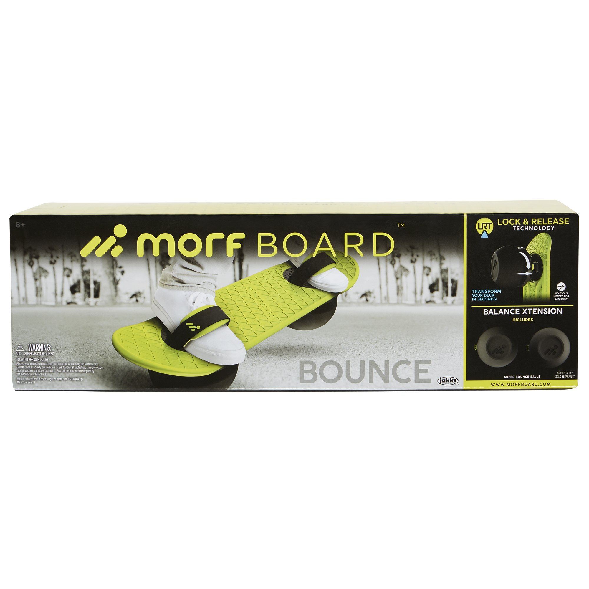 MORFBOARD Bouncer Attachment (No Deck), Chartreuse by MORFBOARD