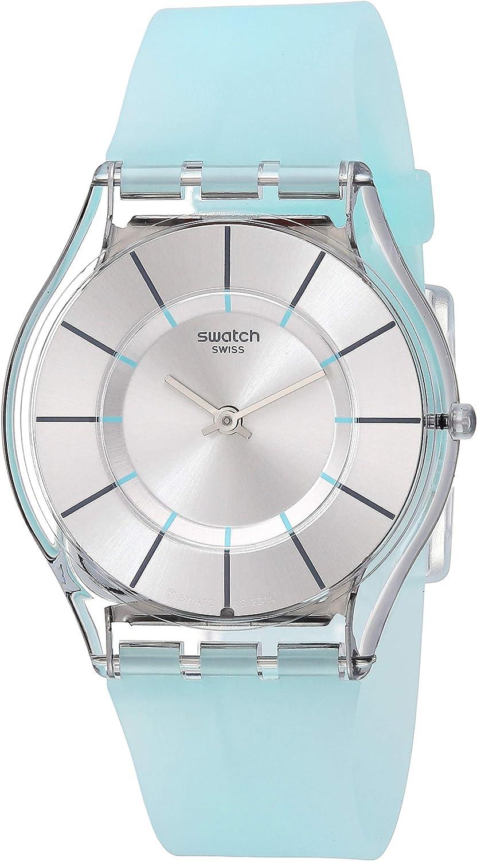 Swatch Reloj Analógico de Cuarzo Unisex con Correa de Silicona – SFK397