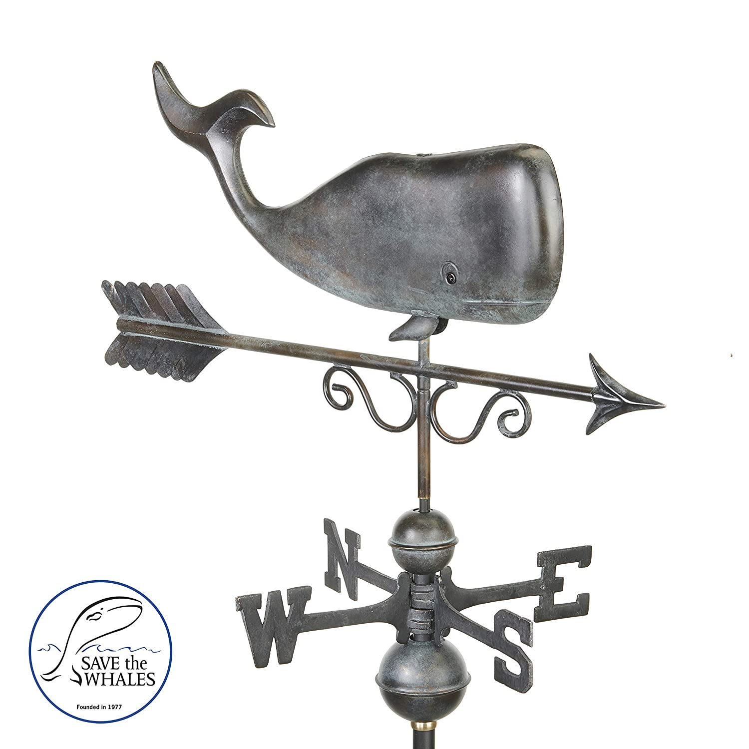 Pure Copper Good Directions 1976P Save The Whales Weathervane