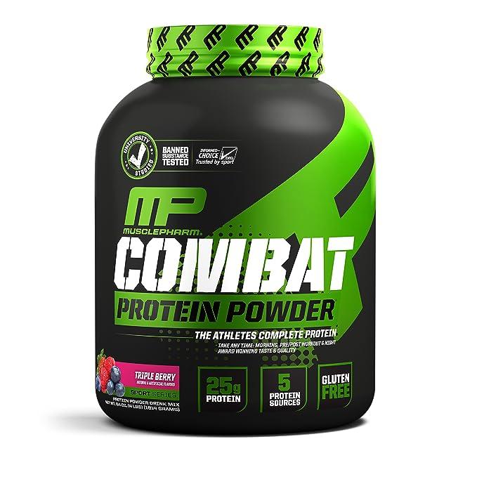 Muscle pharm combatir polvo Advanced Time Release proteínas: Amazon ...
