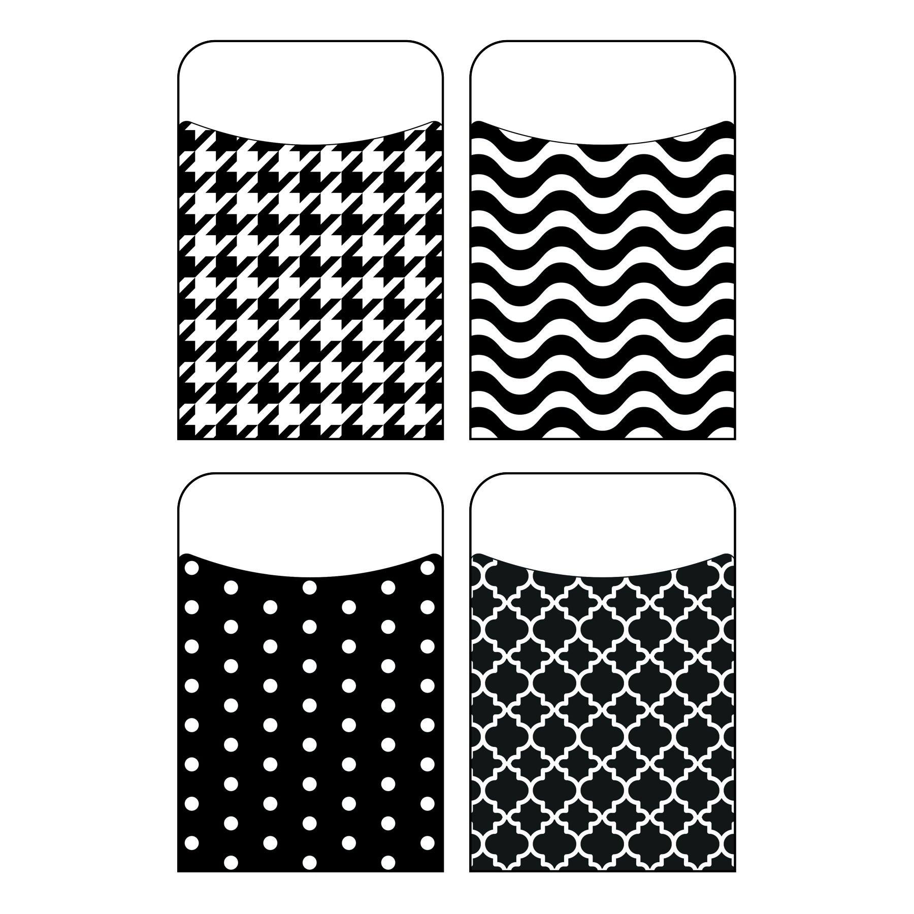 Trend Enterprises, Inc. T-77901BN Black & White Terrific Pockets Variety Pack, 40 per Pack, 6 Packs