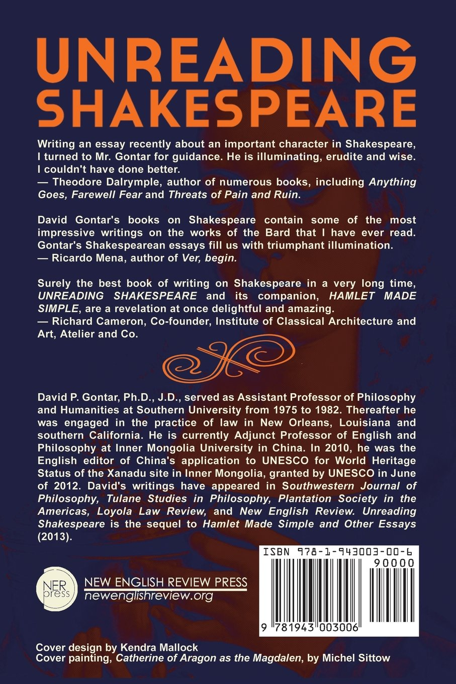 com unreading shakespeare david p gontar com unreading shakespeare 9781943003006 david p gontar books
