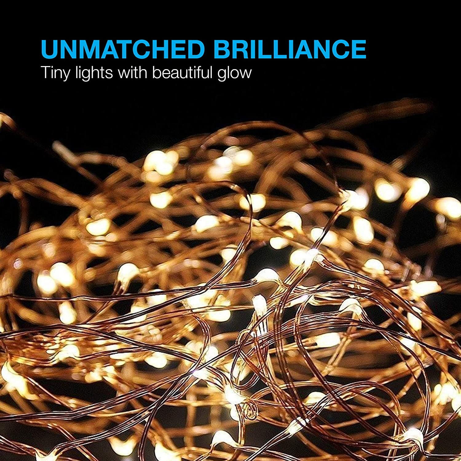 Led String Lights Copper Wire Starry Light Soothing Christmas Tree In Addition Wiring Decoration For Your Home Bedroom Elegant Rope Suitable Weddings