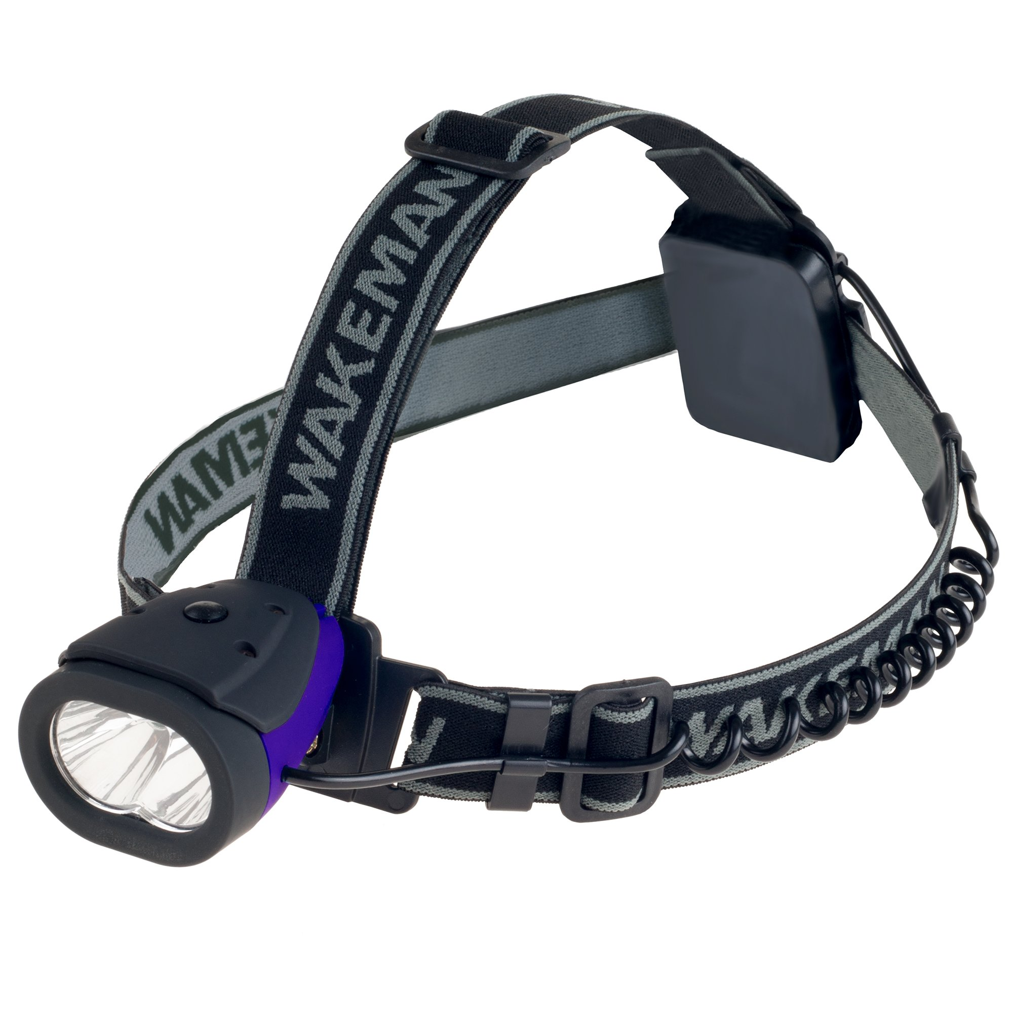LED Headlamp Water Resistant Hands Free Light with 160 Lumen and 2 SMD by Wakeman Outdoors (Blue)