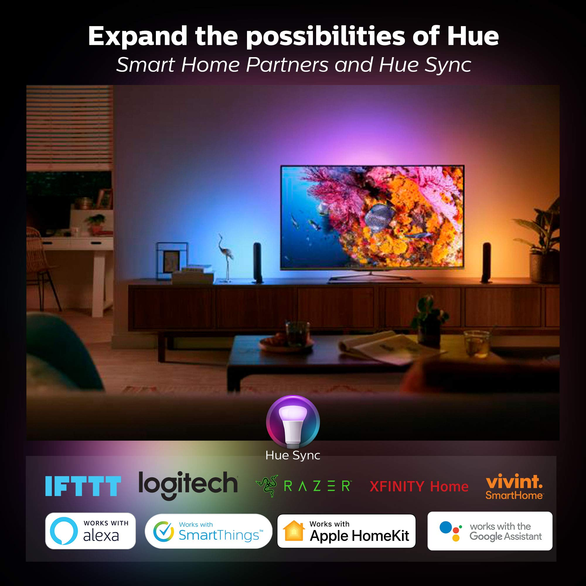 Philips Hue Bloom Dimmable LED Smart Table Lamp (Requires Hue Hub, Works with Amazon Alexa, Apple HomeKitand Google Assistant) by Philips Hue (Image #4)