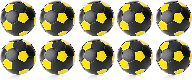 Robertson Bola futbolin Negra Amarilla 24gr 35mm 10 unid: Amazon.es: Deportes y aire libre