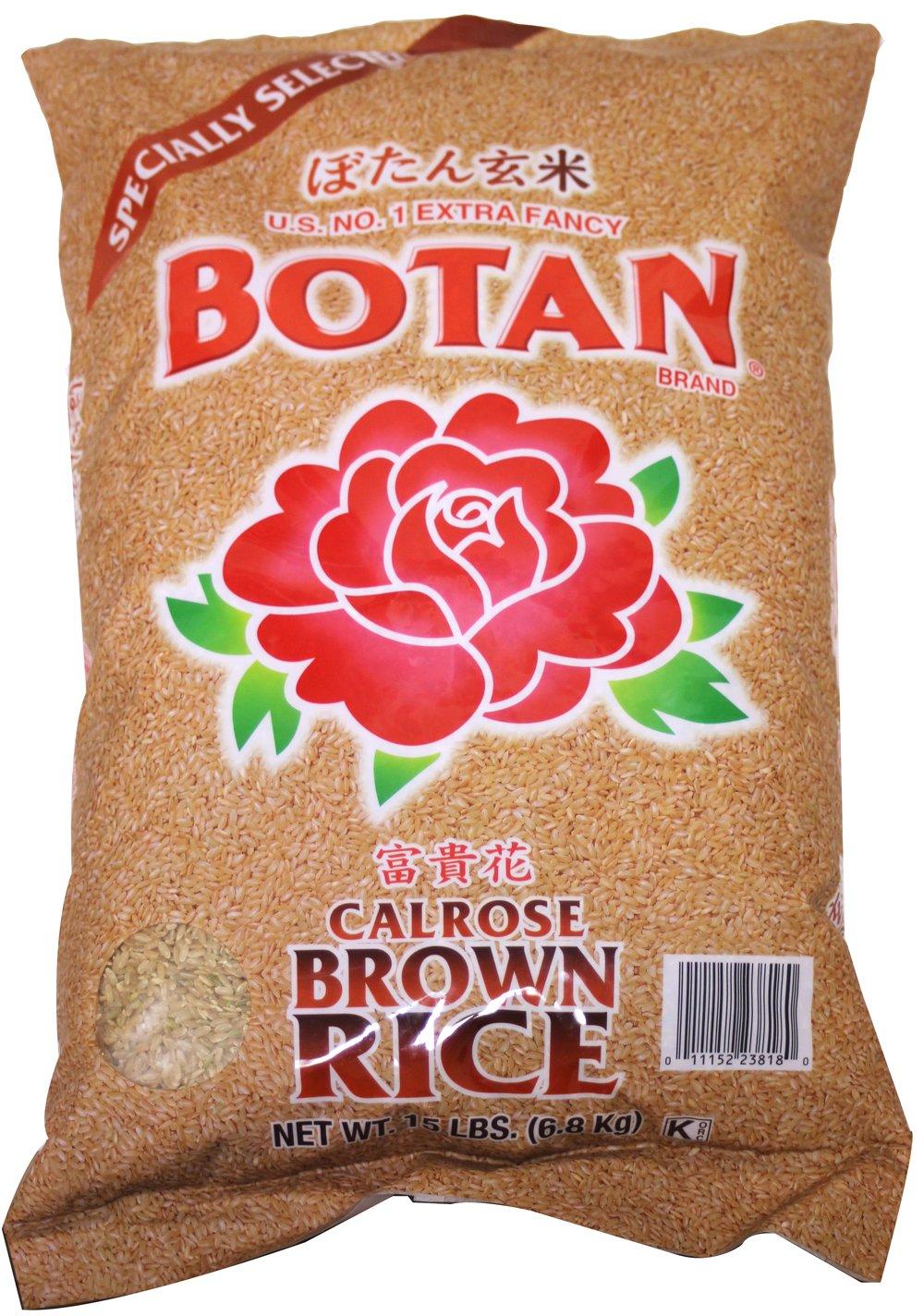 BOTAN Calrose Brown Rice, 15 Pound