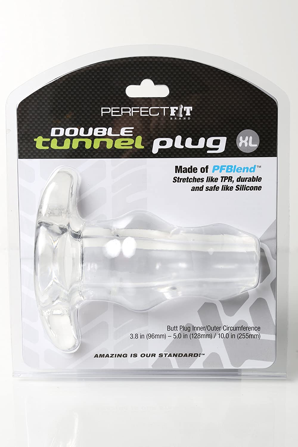 Double Tunnel Tunnel Tunnel Plug - X- Large -Transparent 667d75