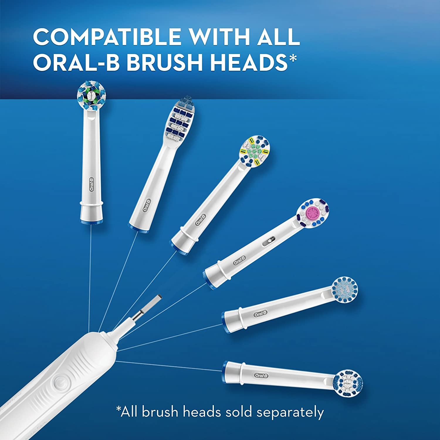 Oral-B Pro 1000 Power Rechargeable Electric Toothbrush Powered by Braun - White