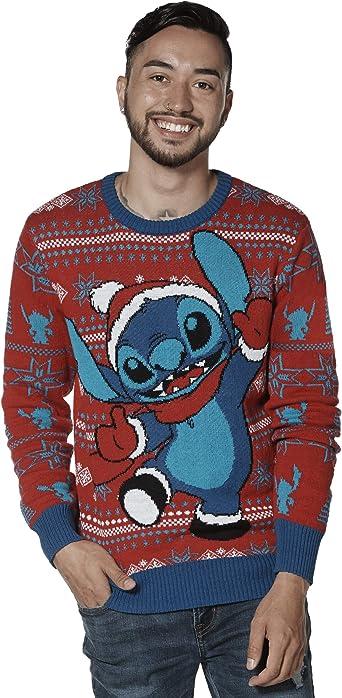 Disney Mens Lilo and Stitch Stitch Christmas Sweatshirt