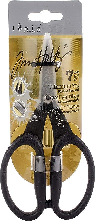TONIC STUDIOS Tim Holtz Non-Stick Micro Serrated Mini Snips 5 Color May Random
