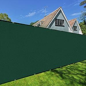 Orgrimmar Green 6'x50' Fence Privacy Screen Heavy Duty Garden Fence Mesh Shade Net Cover for Outdoor Wall Porch Patio Backyard Balcony