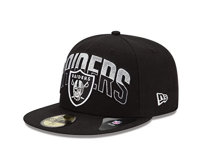 ffa49fa4 Amazon.com : NFL Oakland Raiders 2013 Draft 59FIFTY Fitted Cap Black, 8 1/4  : Sports Fan Baseball Caps : Clothing