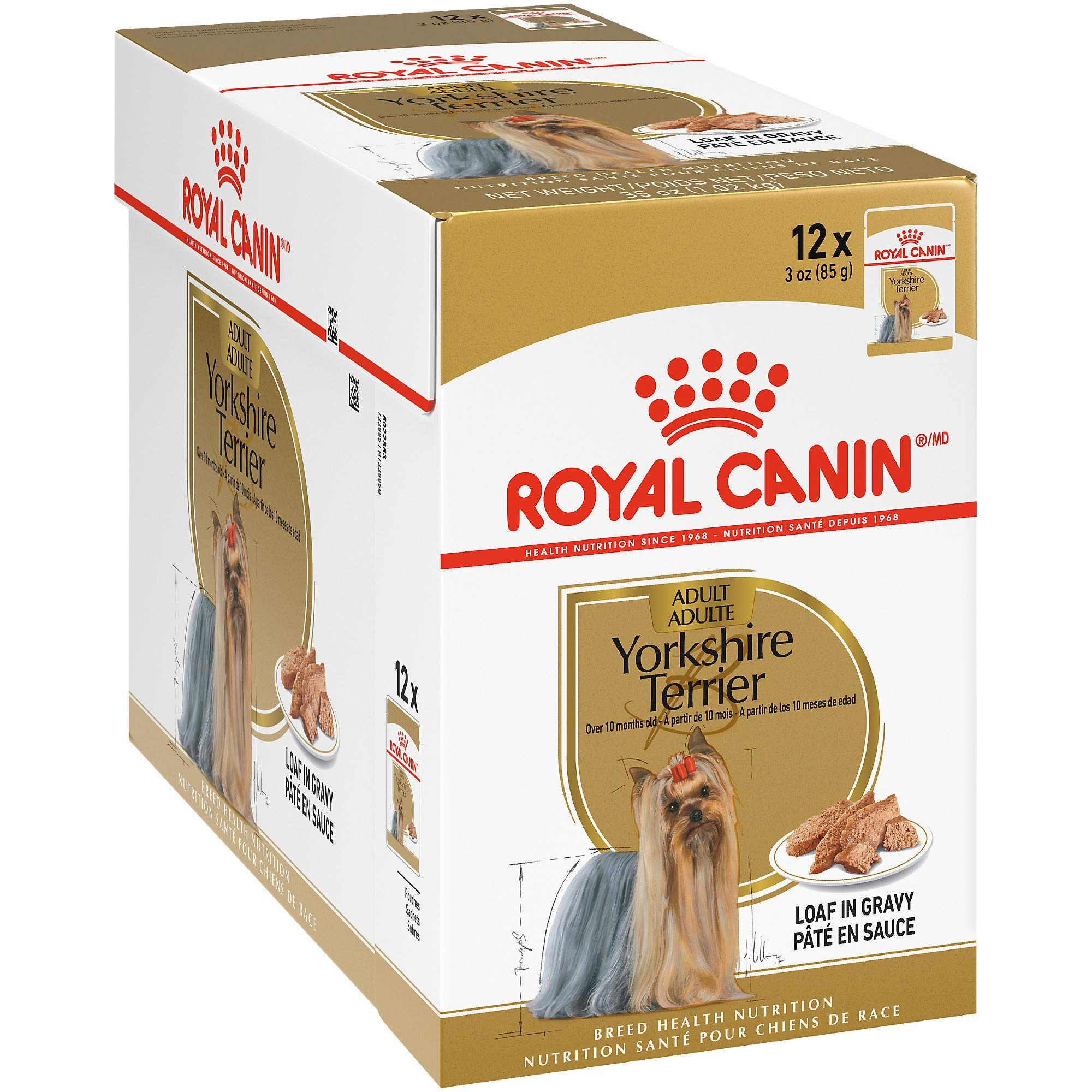 Royal Canin Breed Health Nutrition Yorkshire Terrier Loaf in Gravy Pouch Dog Food, 3 oz Pouch (Pack of 12) by Royal Canin