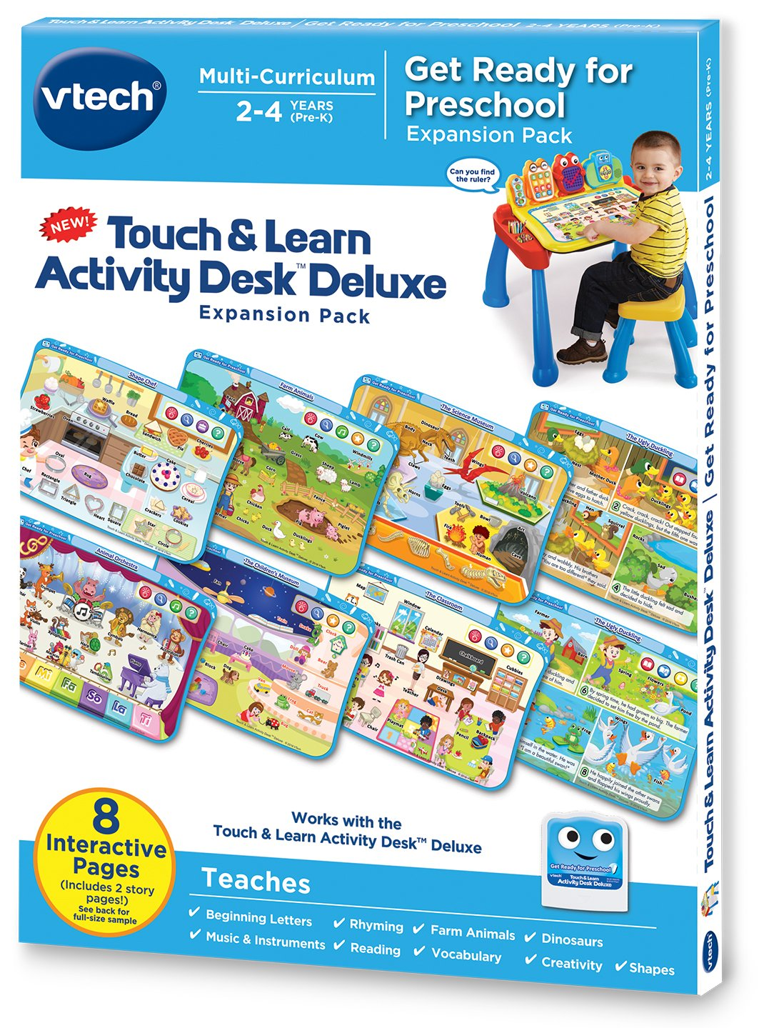 Amazon.com: VTech Touch and Learn Activity Desk Deluxe Expansion ...