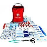 JFA 200 Piece Comprehensive First Aid Kit Bag – includes Emergency blanket, Ice pack, Wound closure strips, Saline pods, Tuff cut scissors, CPR face mask, Bandages and Dressings, suitable for Home, Workplace, Car and Travel