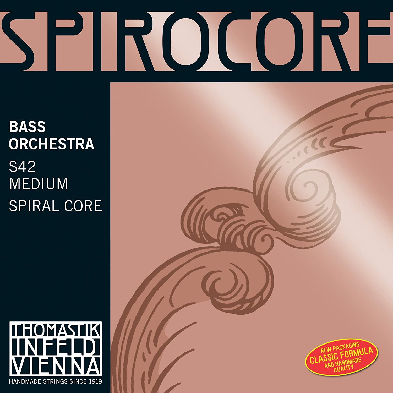 Thomastik-Infeld S43 Spirocore Bass Strings, Complete Set, 4/4 Size, Solo Tuning Connolly Music Company
