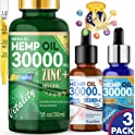 3-Pack Hemp MegaX3 30000 MG Zinc Vitamin Hemp Oil