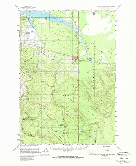West Yellowstone Montana Map.Amazon Com West Yellowstone Mt Topo Map 1 62500 Scale 15 X 15