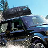 RABBITGOO Waterproof Rooftop Cargo Carrier with Easy to Install Straps - Soft shell Luggage Rack Bag on Car topper (15 Cubic Feet)