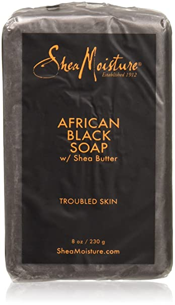 6af69be117267 Amazon.com   Shea Moisture African Black Soap With Shea Butter 8 oz    Facial Soaps   Beauty