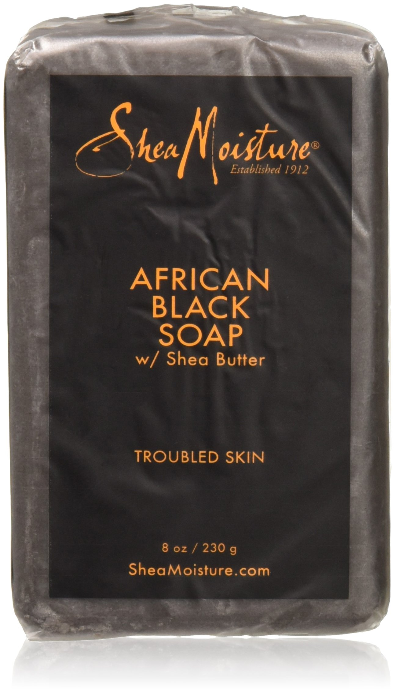 Shea Moisture African Black Soap With Butter 8 oz
