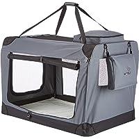 WOLTU #384 Faltbare Transportbox für Hunde und Katzen, aus Segeltuch und Stahlrahmen für Hunde und Katzen in S M L XL XXL XXXL Größen