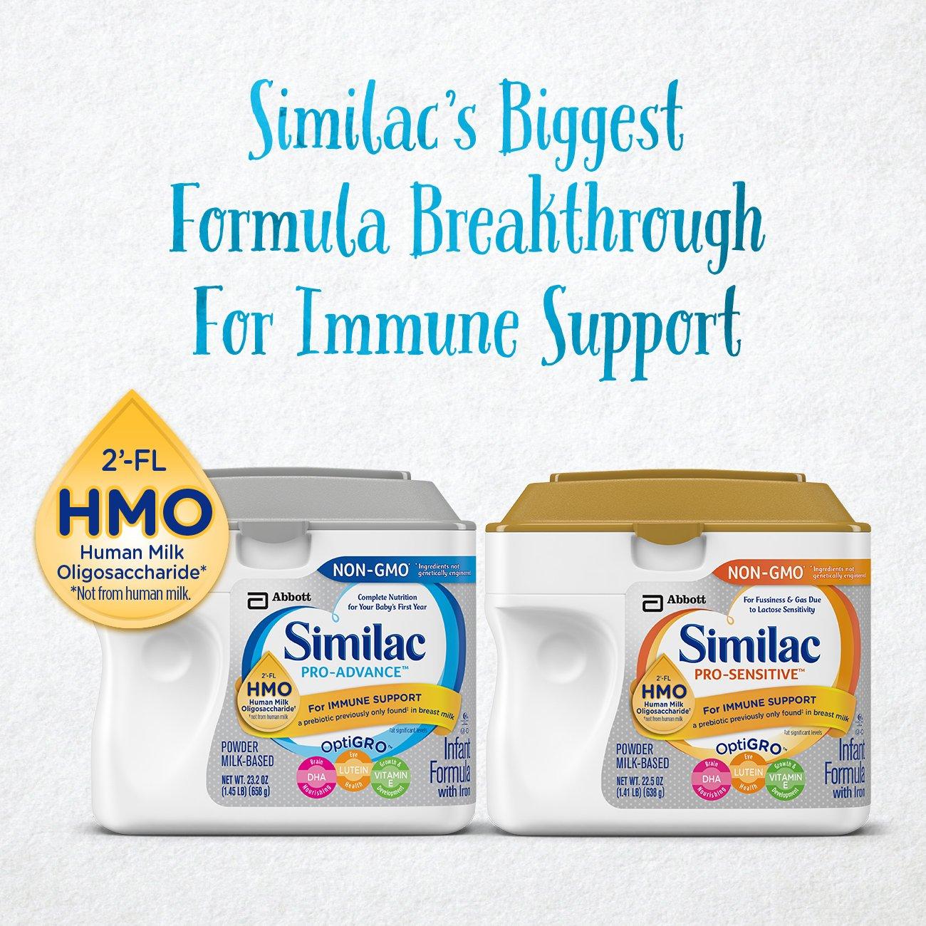 amazon com similac pro advance non gmo infant formula with iron