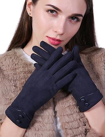 9c1cc0de8 Women Winter Gloves Touch Screen Thick Warm Adult Hand Outdoor Mittens  Gloves With Buttons (Fleece Lining)