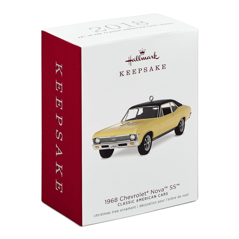Hallmark Keepsake Christmas Ornament 2018 Year Dated 1968 Chevy Nova Ss Classic American Cars Chevrolet Metal Home Kitchen