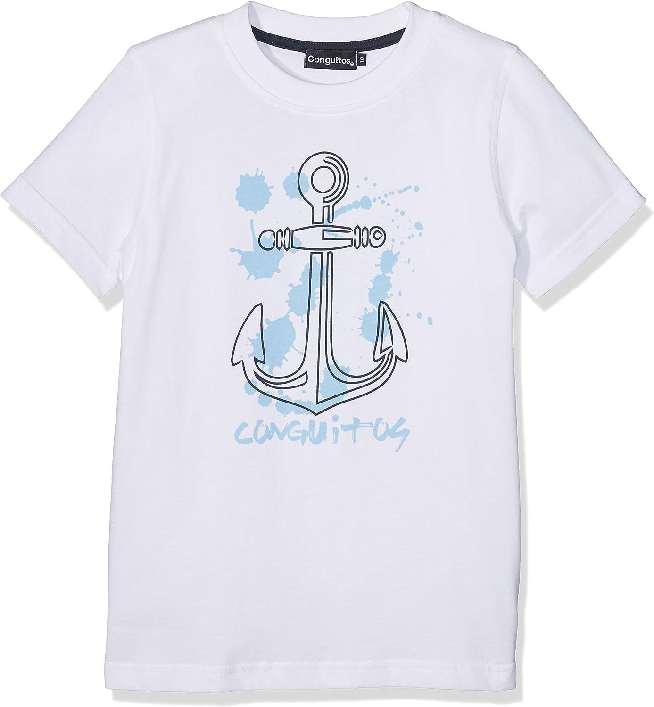 Conguitos Camiseta Niño Ancla Blanco, 10A para Niños: Amazon.es ...
