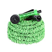 Ohuhu Gartenteichschlauch Dehnbar, Ausziehbarer Schlauch mit 8-Phasen-Düse, Flexibler Gartenschlauch 22-30M ausgedehnt, Wasserschlauch Flexibel