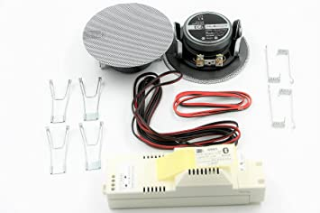 Egi Audio Solutions 41021 - Kit de Sonido con Altavoces empotrados y Amplificador Bluetooth, Color Blanco: Amazon.es: Electrónica