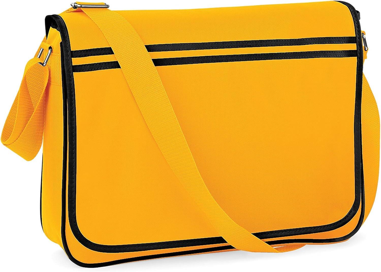 4 Cols BagBase Funky Retro Messenger Bag
