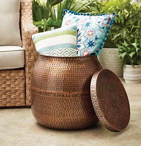 JN Better Homes Gardens 19″ Antique Copper Finish Outdoor Side Table