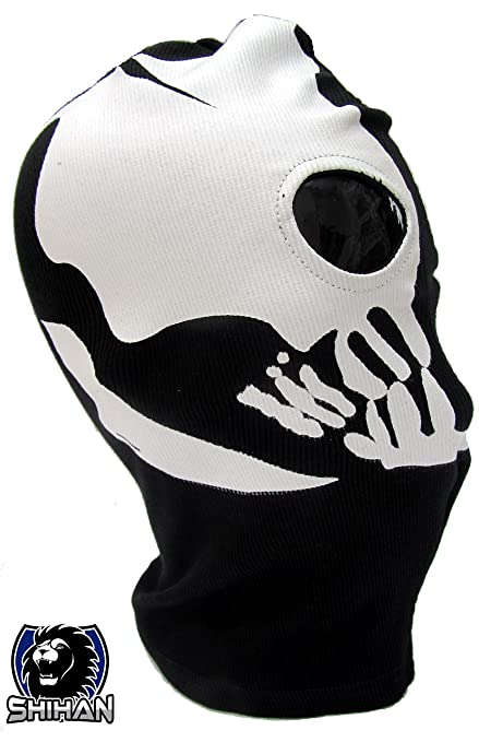 MEDELIN 2 Hole, Wool Zorro Ninja, Fancy Dress Costume 1 Size Senior,Balaclava Ghost Skull Face Mask Bike Motorcycle Helmet Hood Ski Sport Neck Face ...