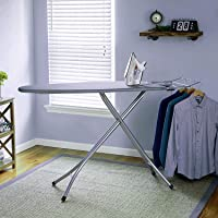 Oumffy Extra Large Big Size Folding Ironing Board/Iron Table with Press Stand for Home/Ironing Table with Iron Stand/Iron Stand for Ironing Clothes/Ironing Board with Multi-Function(Grey)