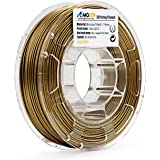 AMOLEN 3D Printer Filament, Bronzefill 1.75mm PLA Filament +/- 0.03 mm, 0.5 LBS Spool, includes Sample Marble Filament.